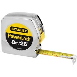 Stanley Tools - 8m26 ft PowerLock Classic Tape Measure - 33-428