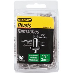Stanley Tools - 100 pk 18 in x 12 in Aluminum Rivets - PAA48-1B