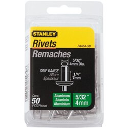 Stanley Tools - 50 pk 532 in x 14 in Aluminum Grip Rivets - PAA54-5B