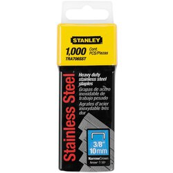 Stanley Tools - 1000 pc 38 in Stainless Steel Heavy Duty Staples - TRA706SST