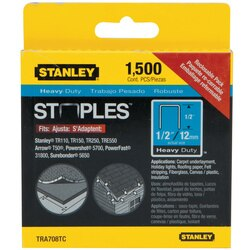 Stanley Tools - 1500 pc 12 in Heavy Duty Staples - TRA708TCS