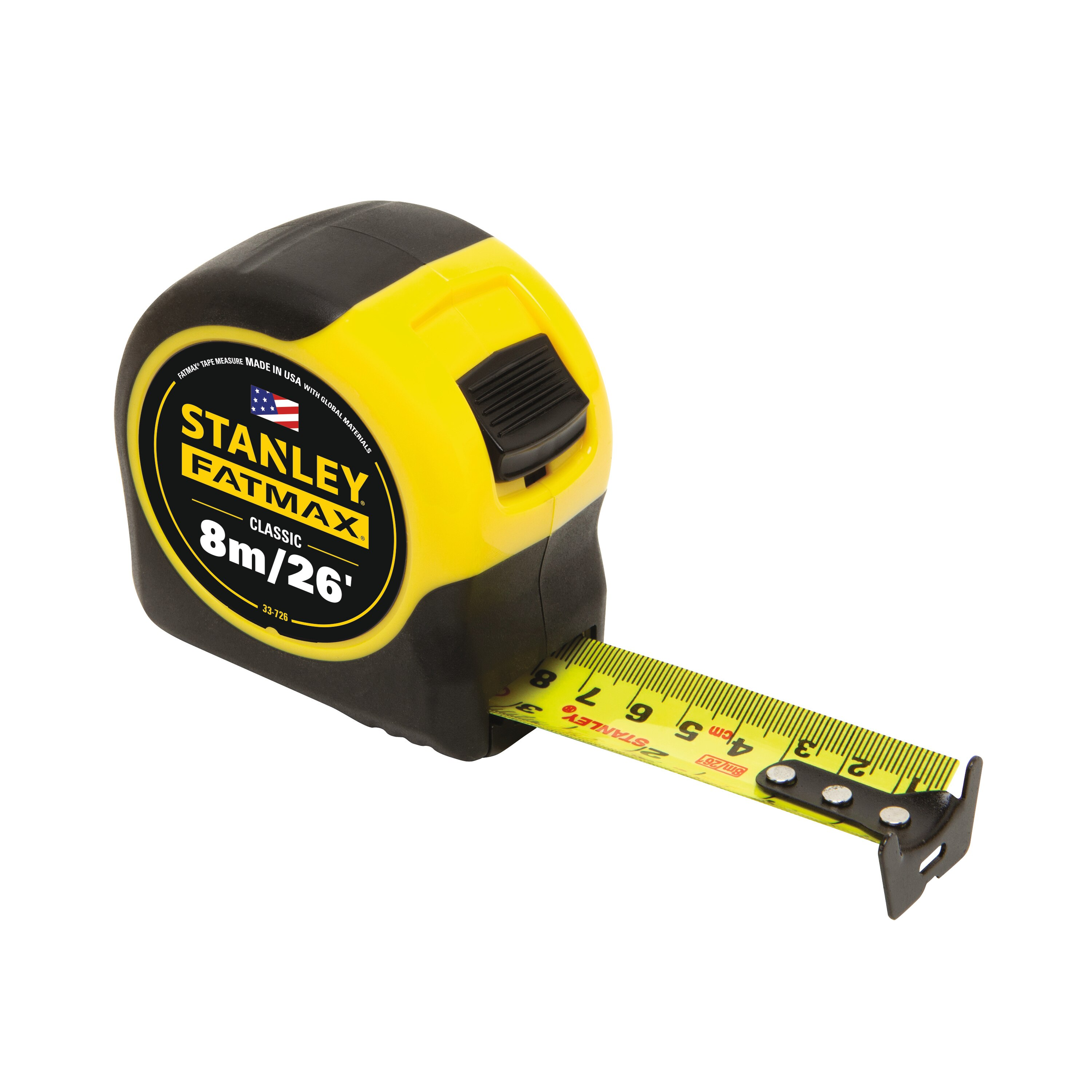 Stanley Tools - 8m26 ft FATMAX Classic Tape Measure - 33-726