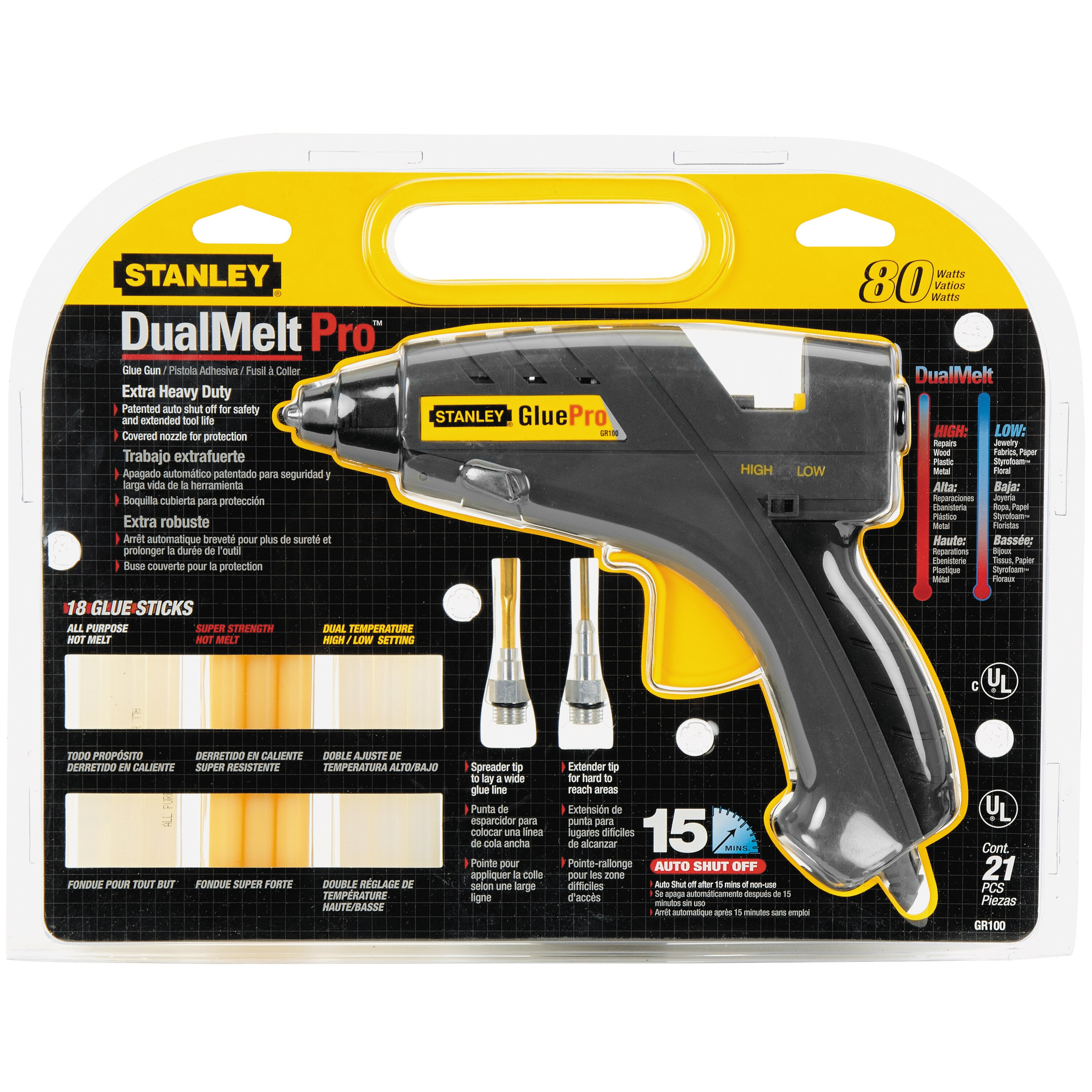 Stanley Tools - 812 in DualMelt Pro Glue Gun Kit - GR100