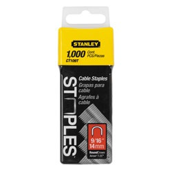 Stanley Tools - 1000 pc 916 inCable Staples - CT109T