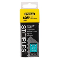 Stanley Tools - 1000pc 12 inFlat Narrow Crown Staples - CT308T