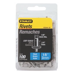 Stanley Tools - 100 pk 18 in x 14 in Steel Rivets - PSS44-1B