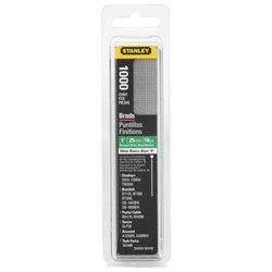 Stanley Tools - 1000 pk 1 in White Brad Nails - SWKWBN100