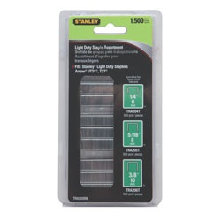 Stanley Tools - 1500 pc 2964 inLight Duty Staples - TRA200BN