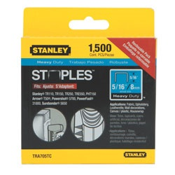 Stanley Tools - 1500 pc 516 in Heavy Duty Staples - TRA705TCS