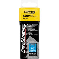Stanley Tools - 1000 pc 12 in Heavy Duty Staples - TRA708T