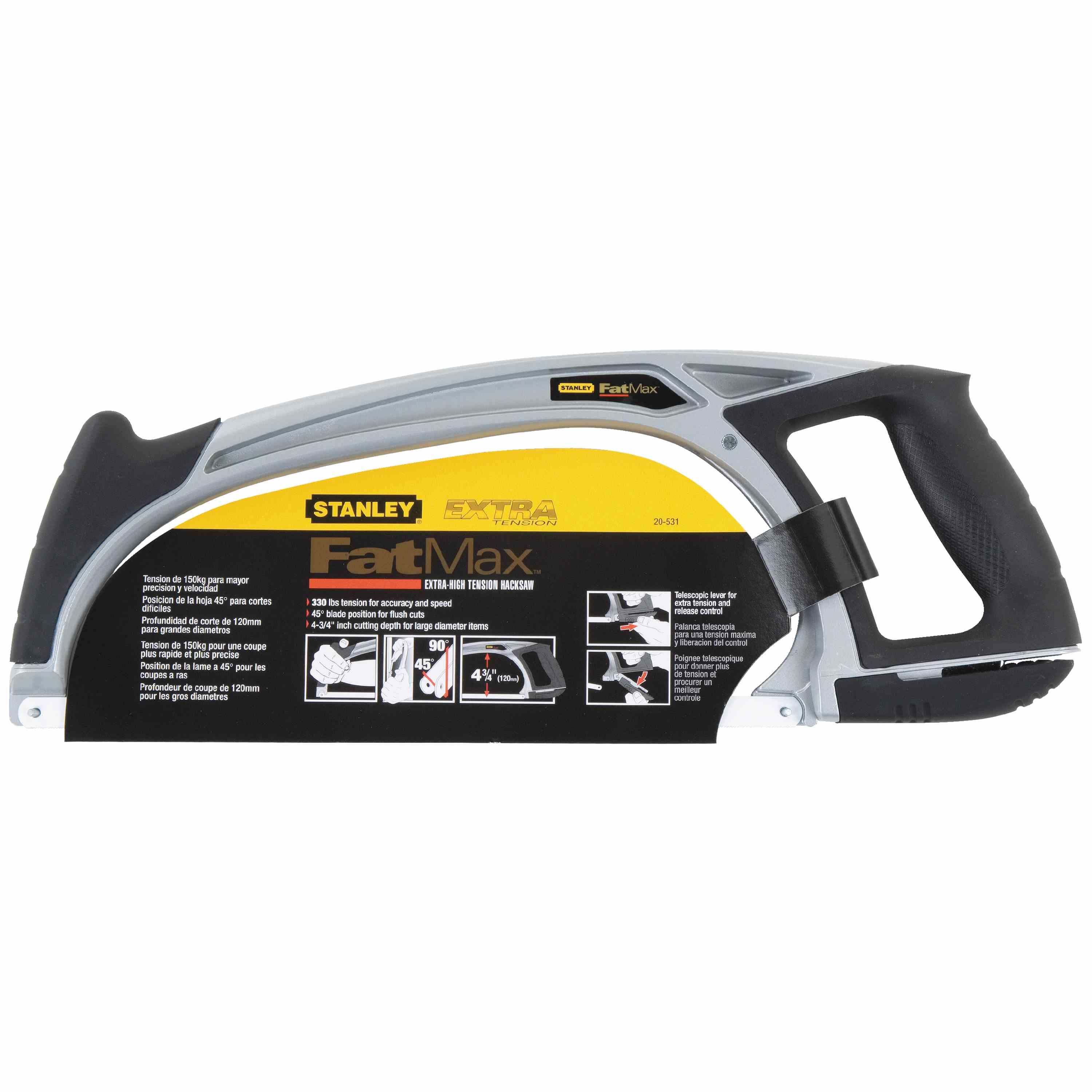 Stanley Tools - 12 in FATMAX HighTension Hacksaw - 20-531