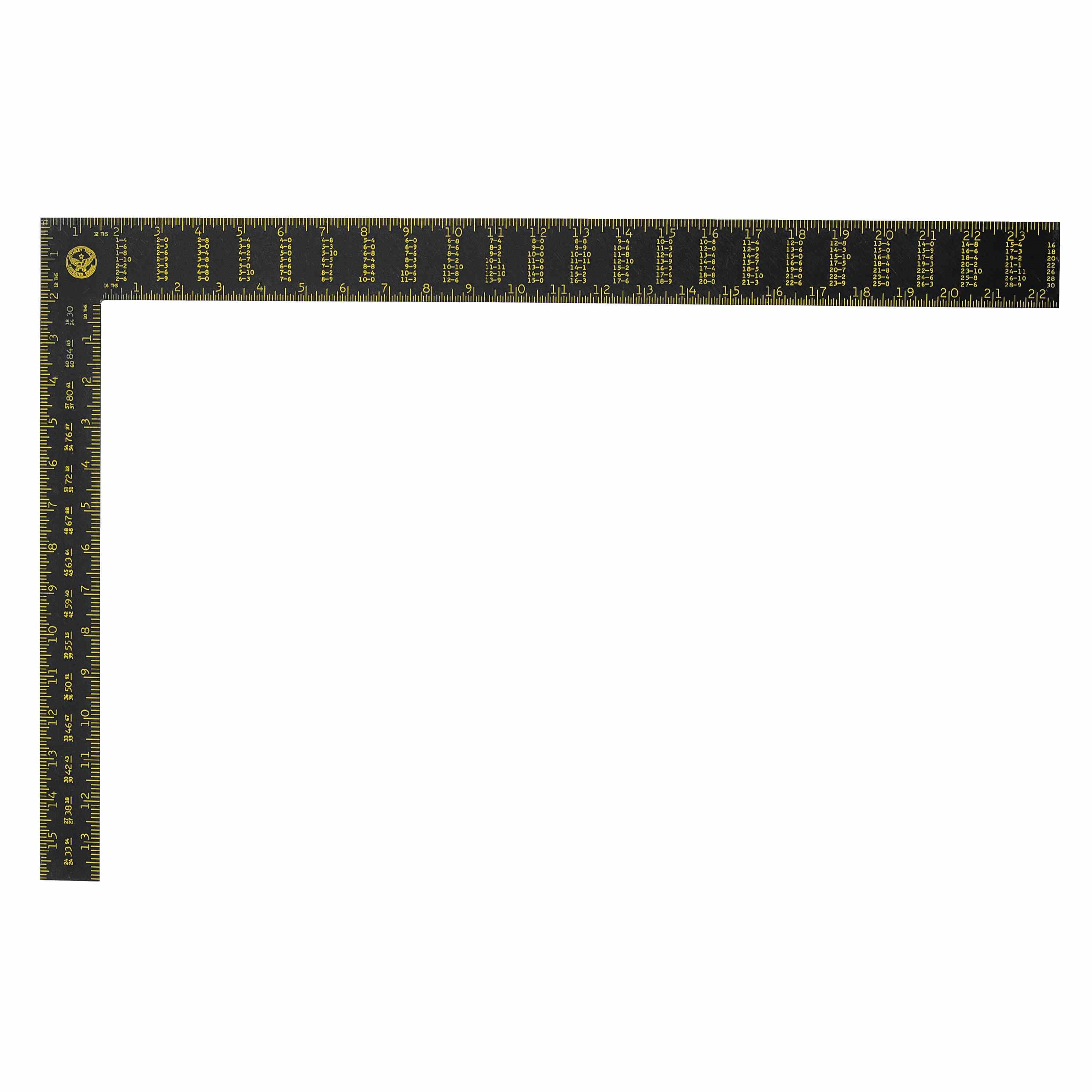 Stanley Tools - 24 in Premium Aluminum English Rafter Square - 45-011