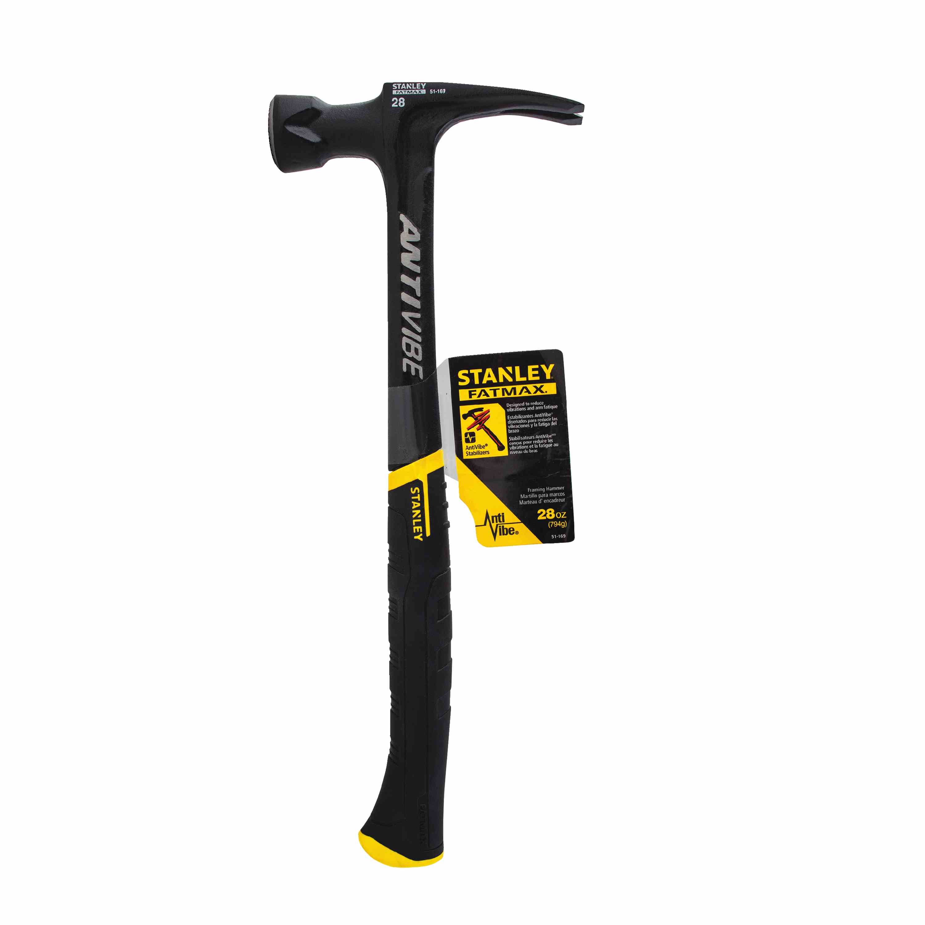 Stanley Tools - 28 oz FATMAX AntiVibe Rip Claw Framing Hammer - 51-169