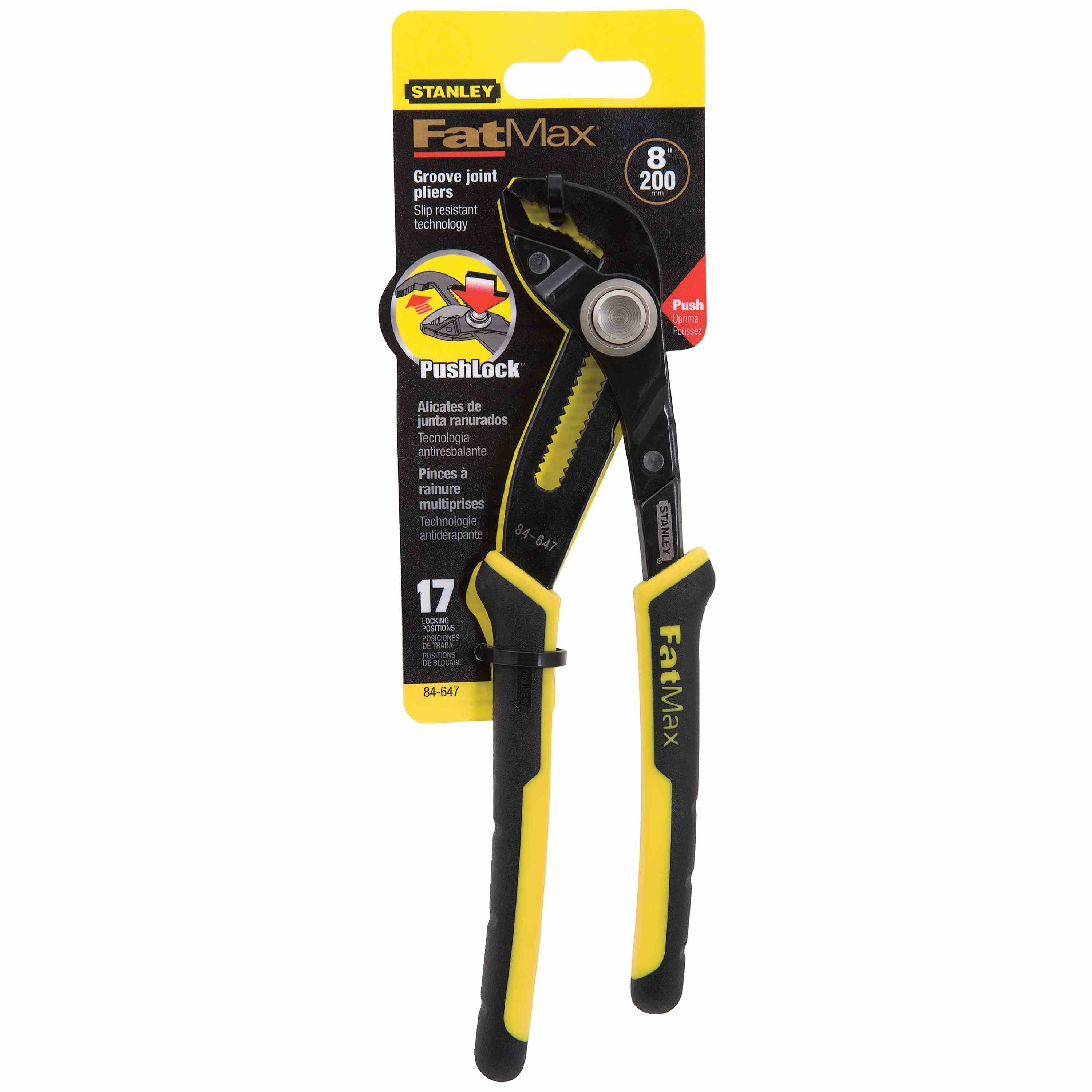Stanley Tools - FATMAX 8 in PushLock Adjustable Joint Pliers - 84-647