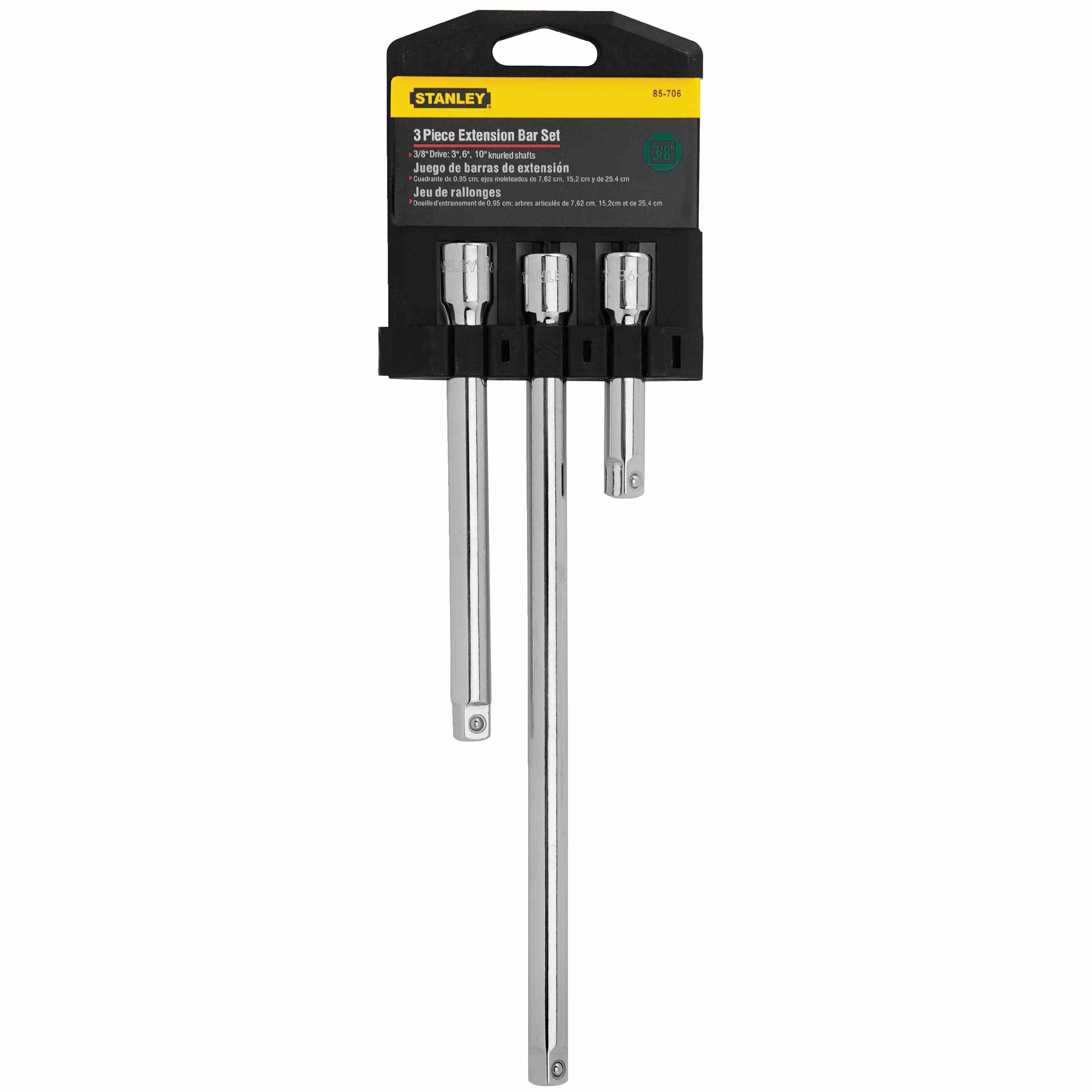 Stanley Tools - 3 pc Extension Bar Set - 85-706