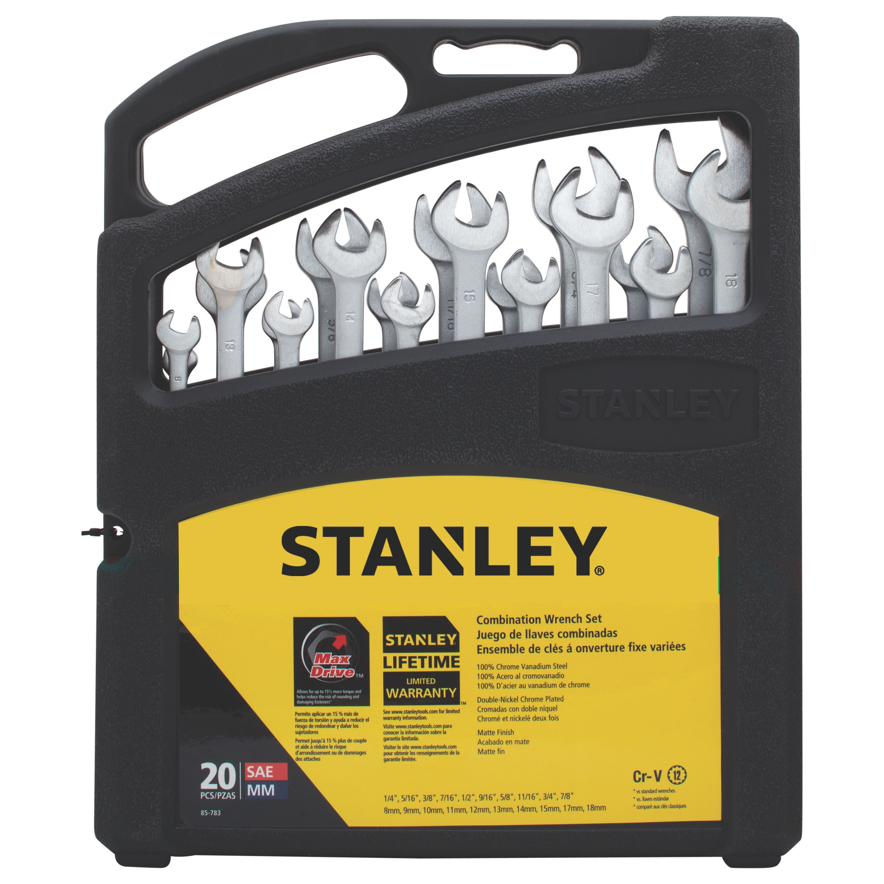 Stanley Tools - 20 pc Combination Wrench Set - 85-783