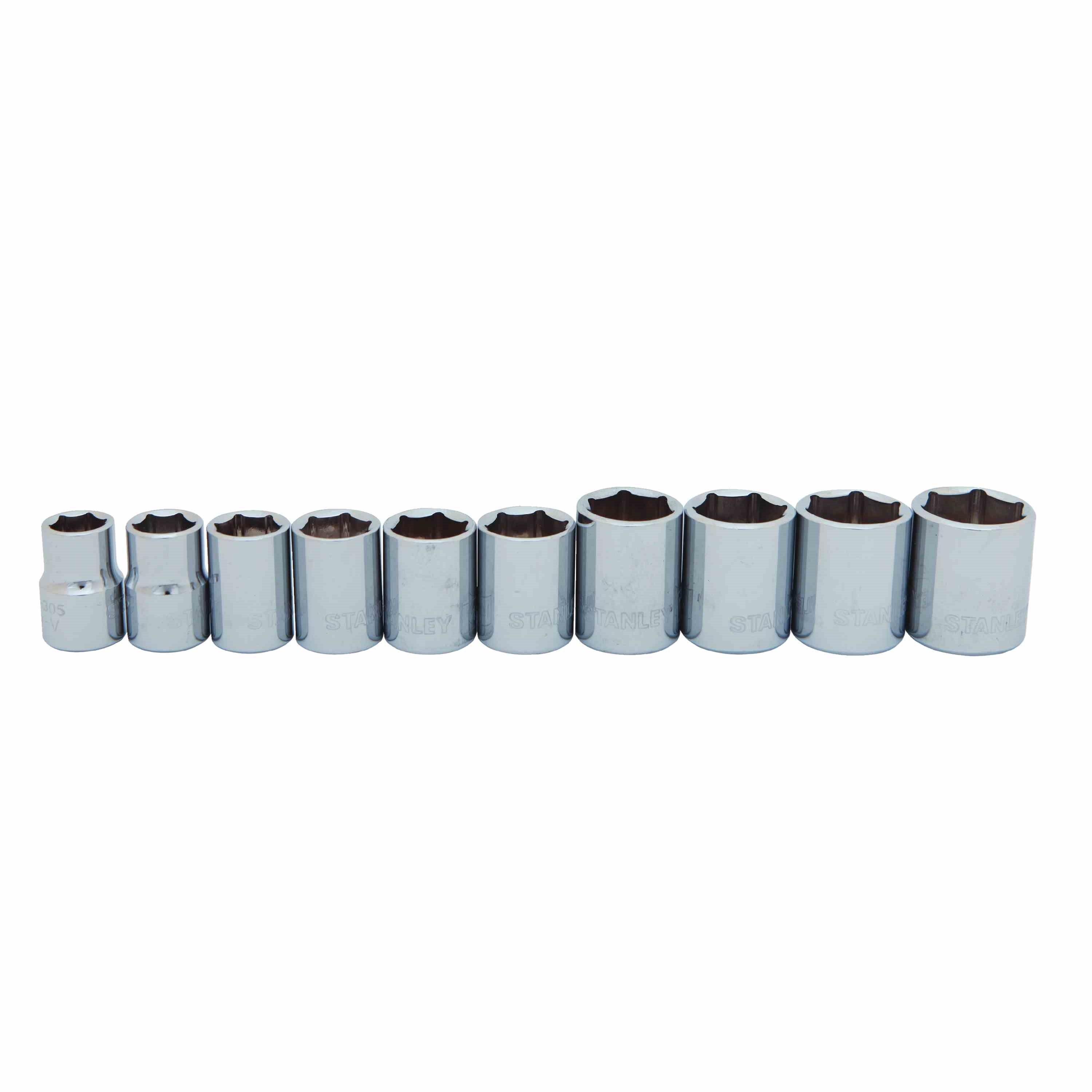 Stanley Tools - 10 pc 38 in Drive Standard Socket Set Metric - 95-442
