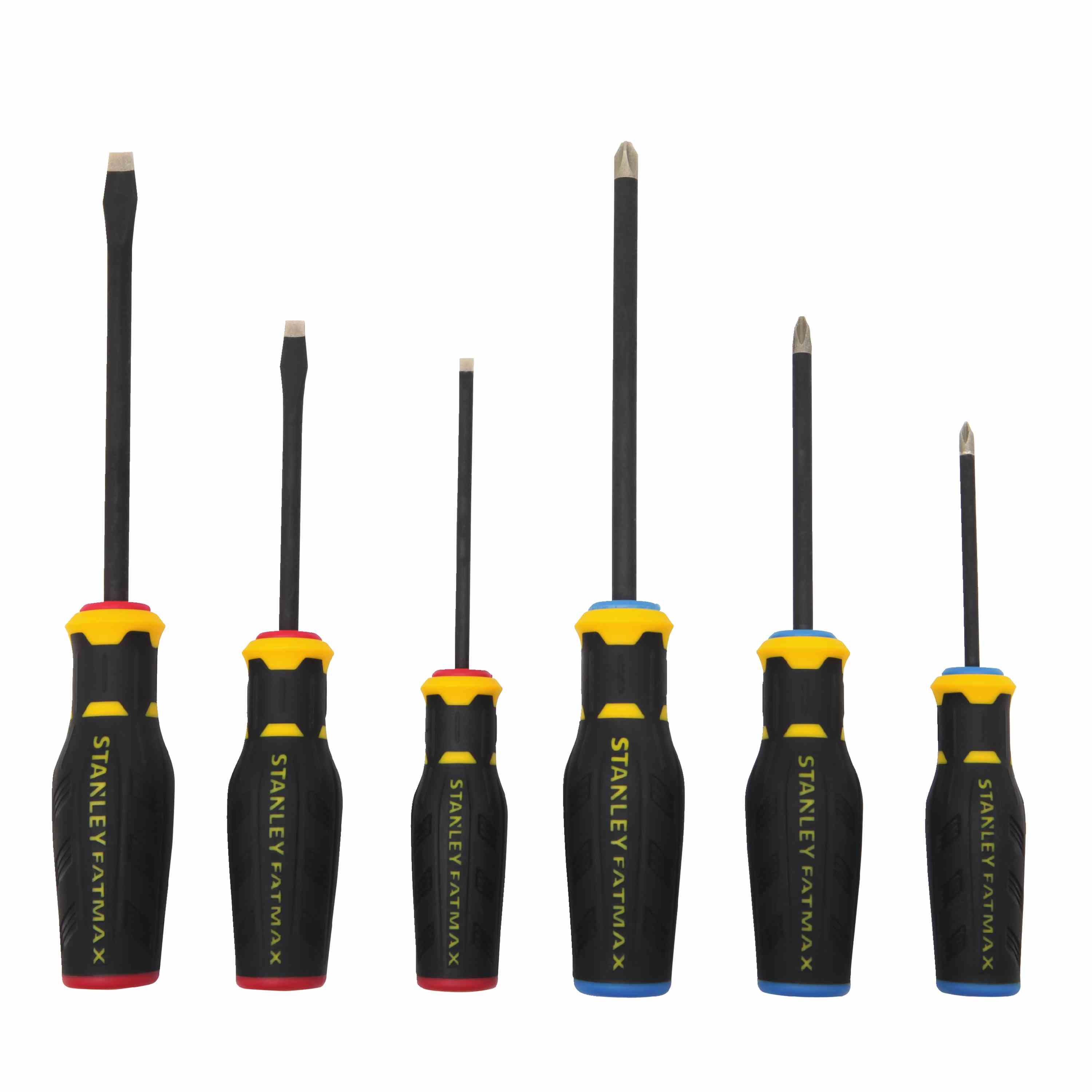 Stanley Tools - FATMAX Simulated Diamond Tip 6 Pc Screwdriver Set with Standard  Phillips - FMHT62052