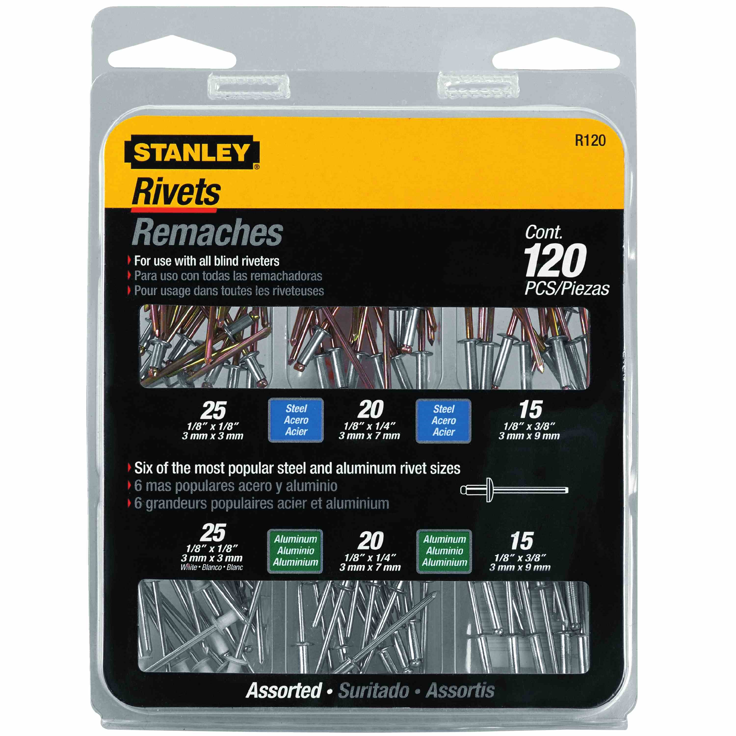 Stanley Tools - 120 pc Rivet Assortment - R120