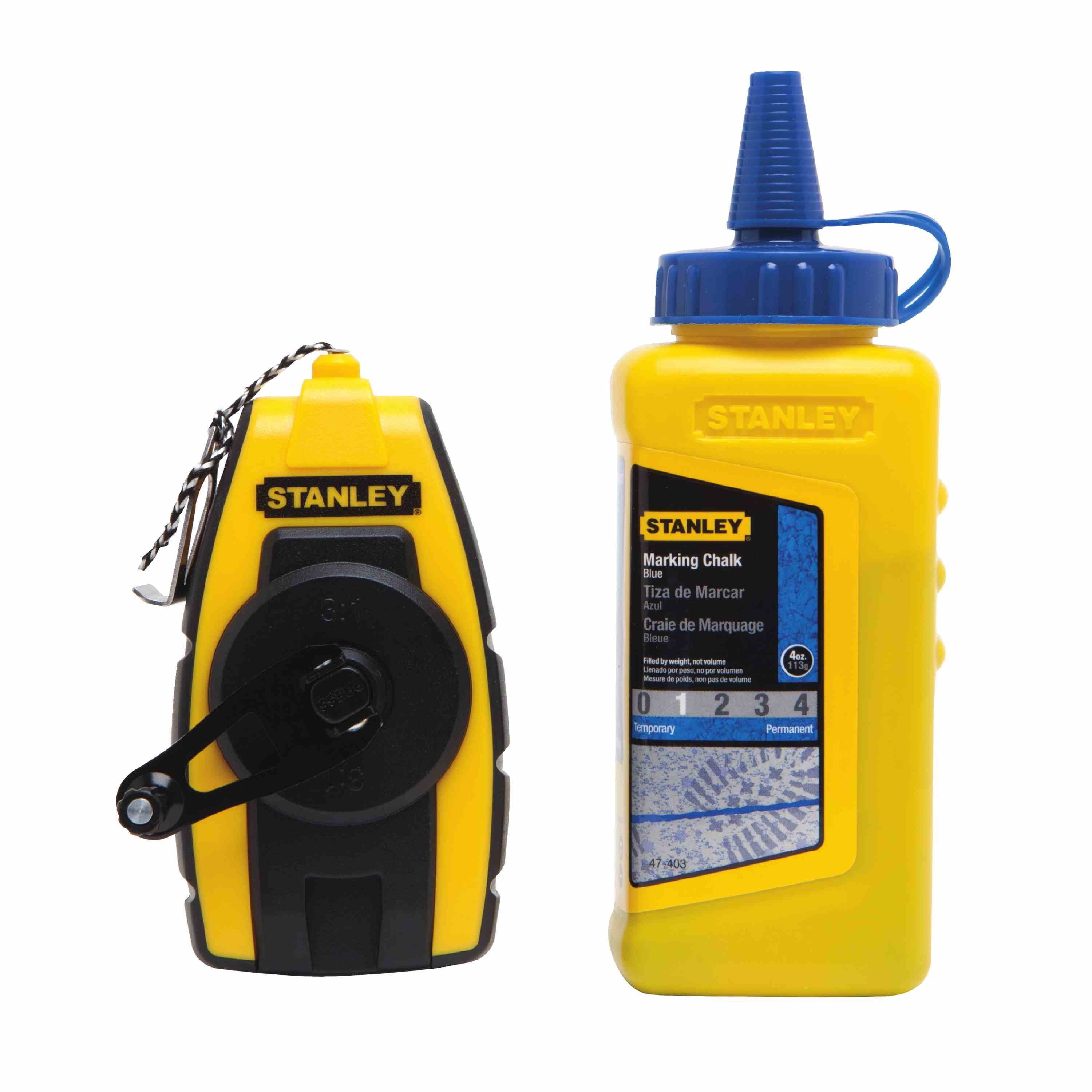 Stanley Tools - Compact Chalk Reel with 4 oz Blue Chalk - STHT47244L