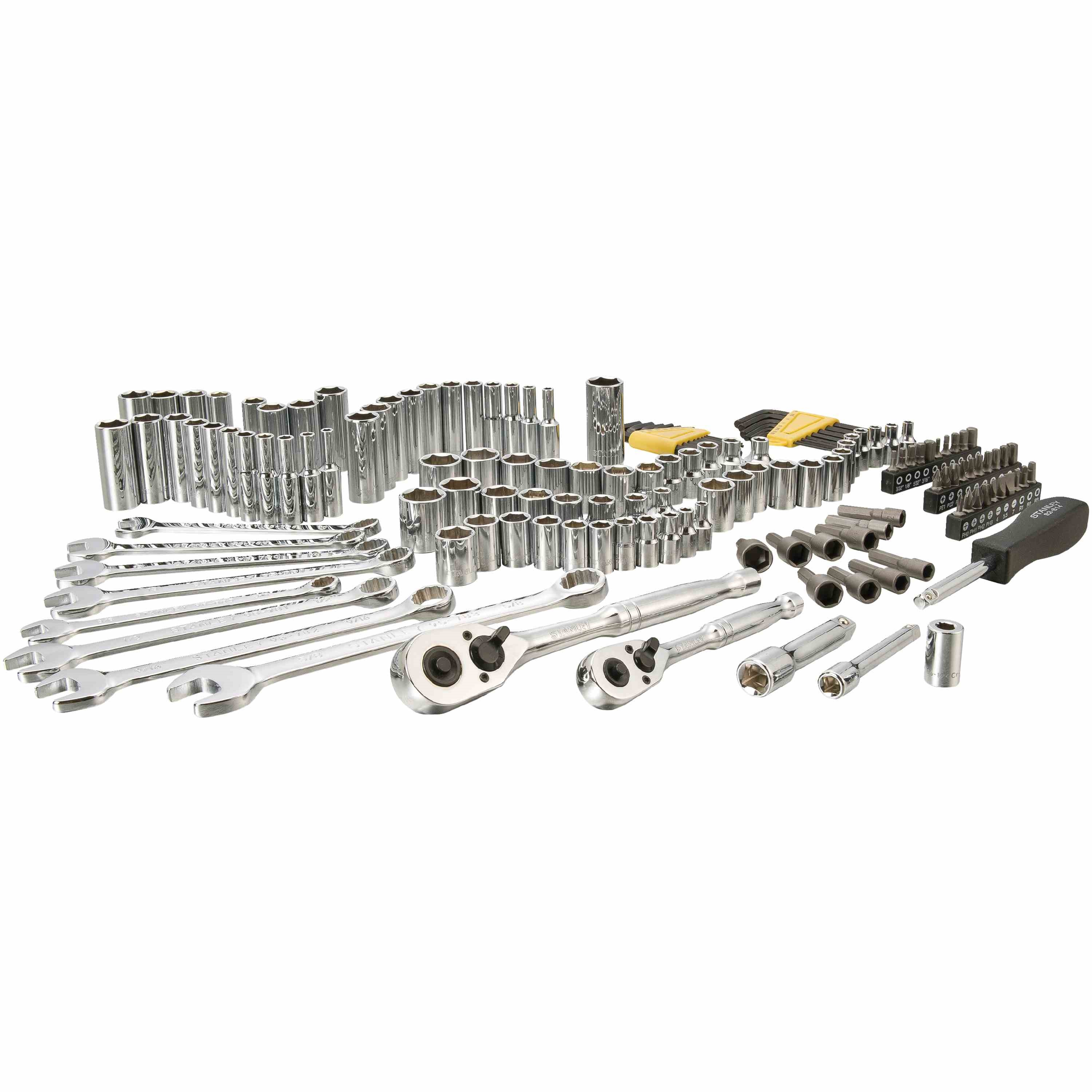 Stanley Tools - 145 pc 14 in  38 in Drive Mechanics Tool Set - STMT71653