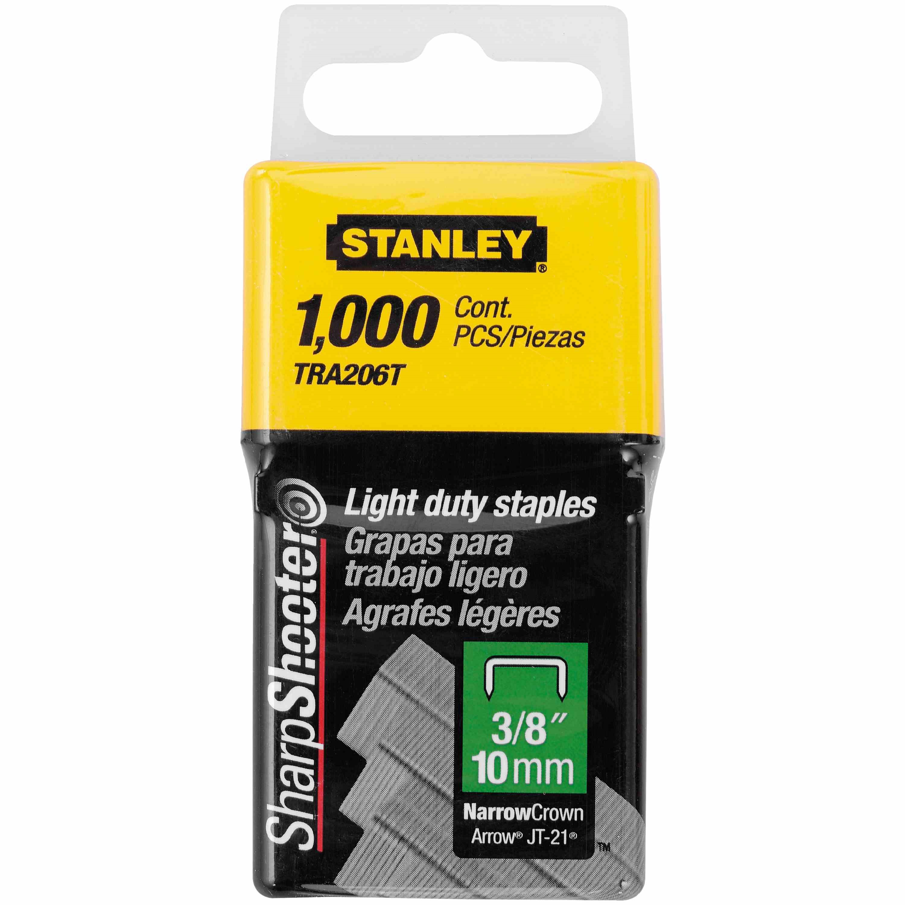 Stanley Tools - 1000 pc 38 in Light Duty Staples - TRA206T