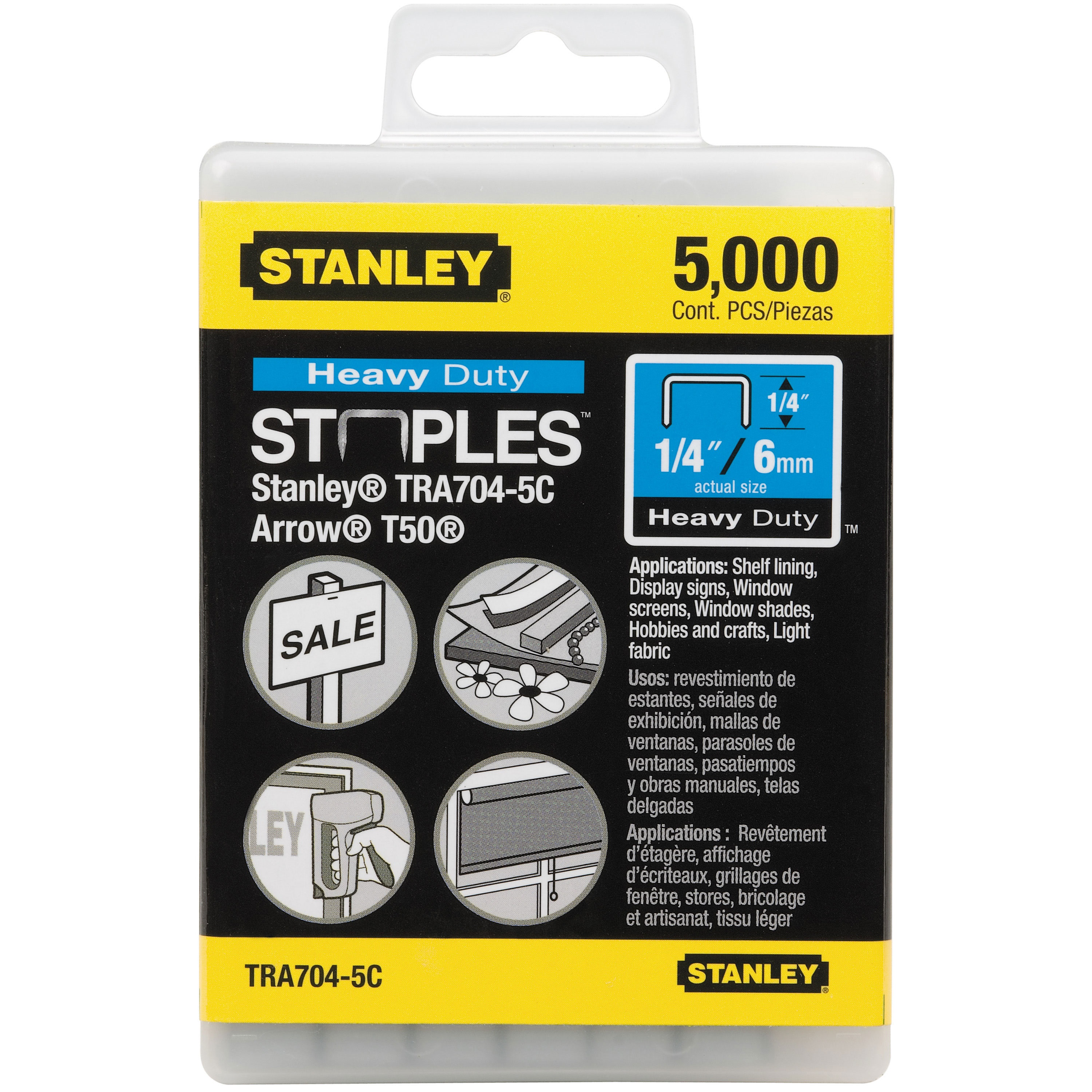 Stanley Tools - 5000 pc 14 in Heavy Duty Staples - TRA704-5C